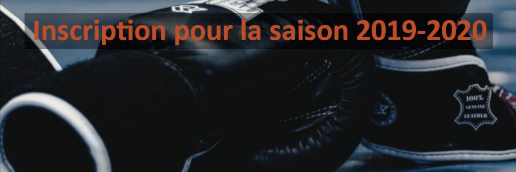 Inscrivez/Réinscrivez vous pour la nouvelle saison 2019-2020